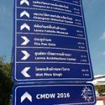 Walking and cycling signs